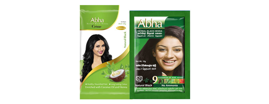 ecd64fa0ef0b6 Abha Herbal Black Henna was introduced as a herbal hair colourant in the  powder hair color market in Sri Lanka, where Godrej is a leading player.